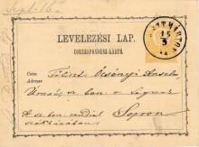 Levelezőlap,1871