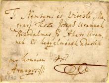 Bélyeg előtti levelek, 1738