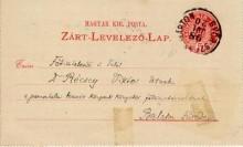 Levelezőlap,1898