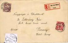 Ajánlott levél,1909