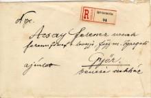 Ajánlott levél,1910