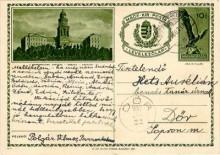Levelezőlap, 1937 (díjjegyes, képes)