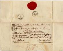 Levél, 1852 Bakonybélbe