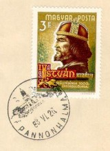 Szent István bélyegeken