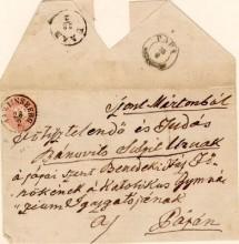 Pápára induló levél