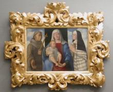 Mária gyermekével, Assisi Szent Ferenccel és Szent Klárával