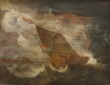 Vitorlások a viharos tengeren