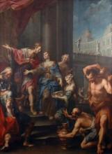 Sába királynője Salamon király előtt 1720-1730